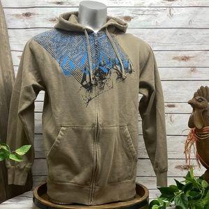 Volcom Sz Medium Hoodie Zip Up Zipper Sweatshirt